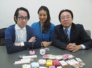 (株)山越 間加田部長とアートコミュニティkapo所属の原嶋夫妻